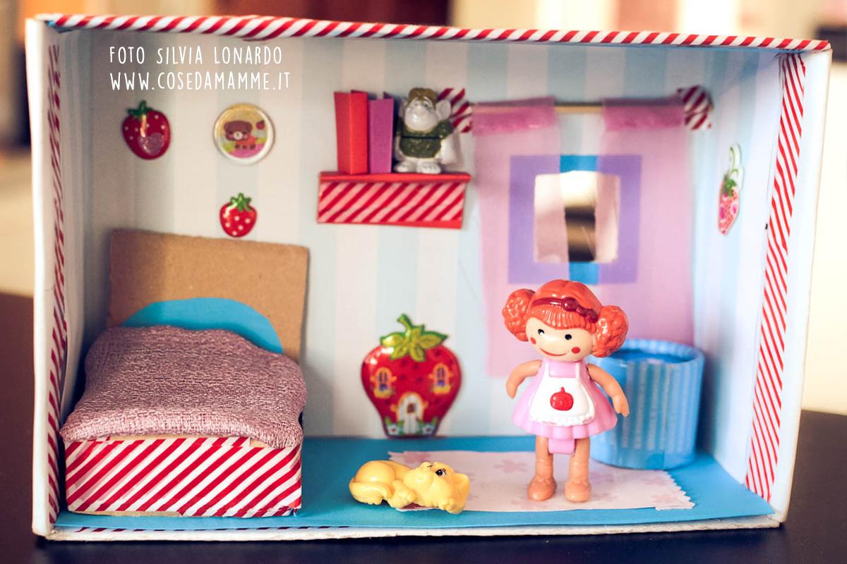 Dollhouse fai da te da scatola delle scarpe a casa delle for Tempo per costruire una casa