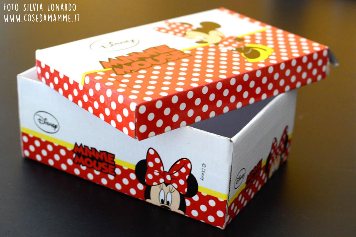 scatola scarpe diventa casetta bambole