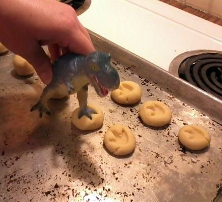 biscotti impronte dinosauro