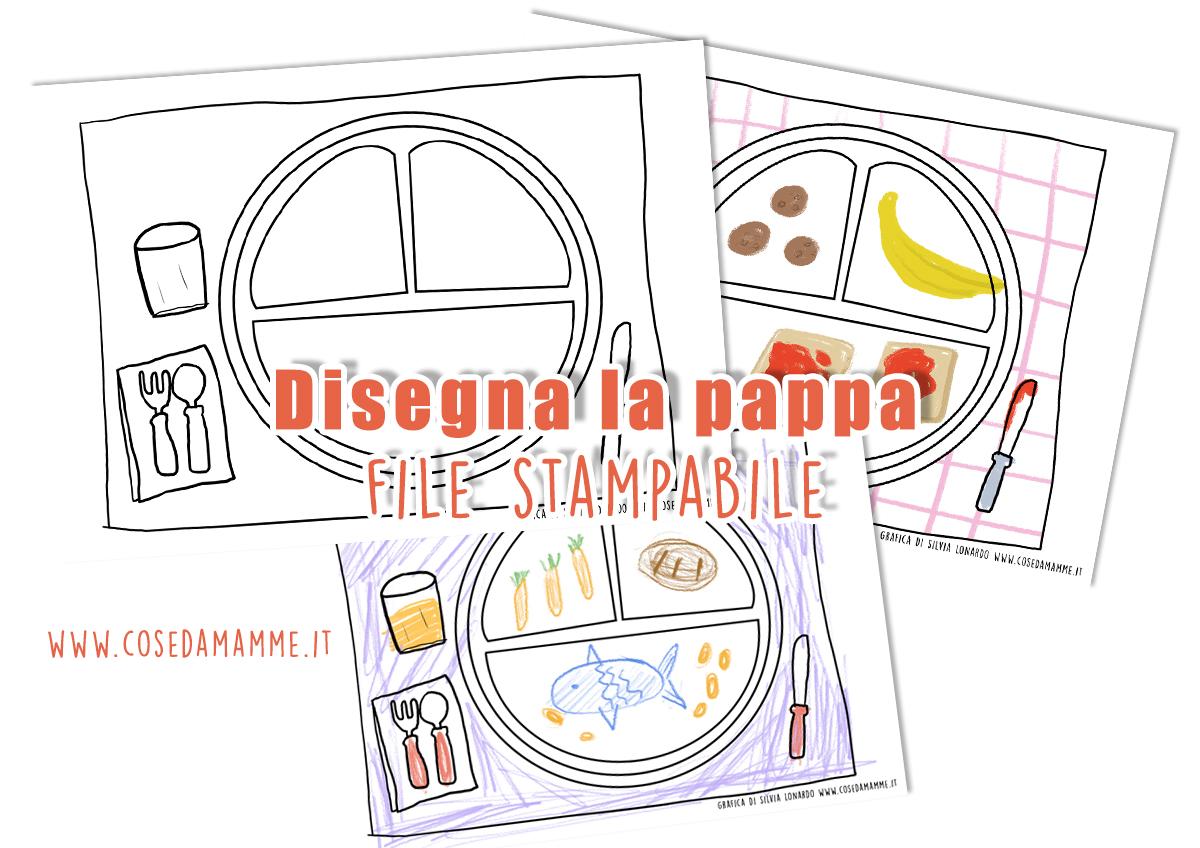 il piatto della pappa gratis stampabile
