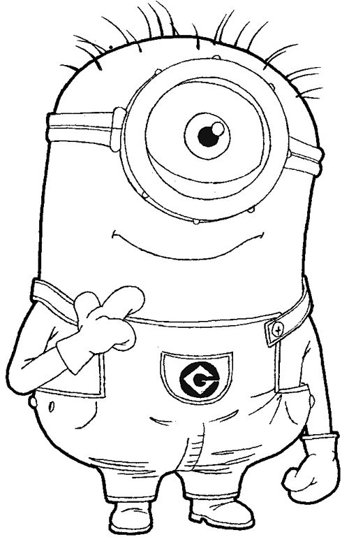 minion da colorare base