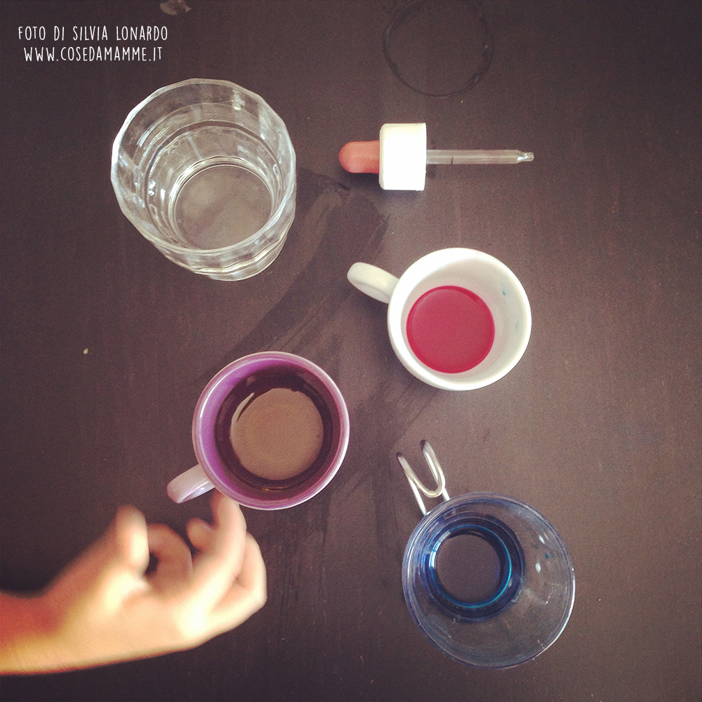 mix colori esperimento