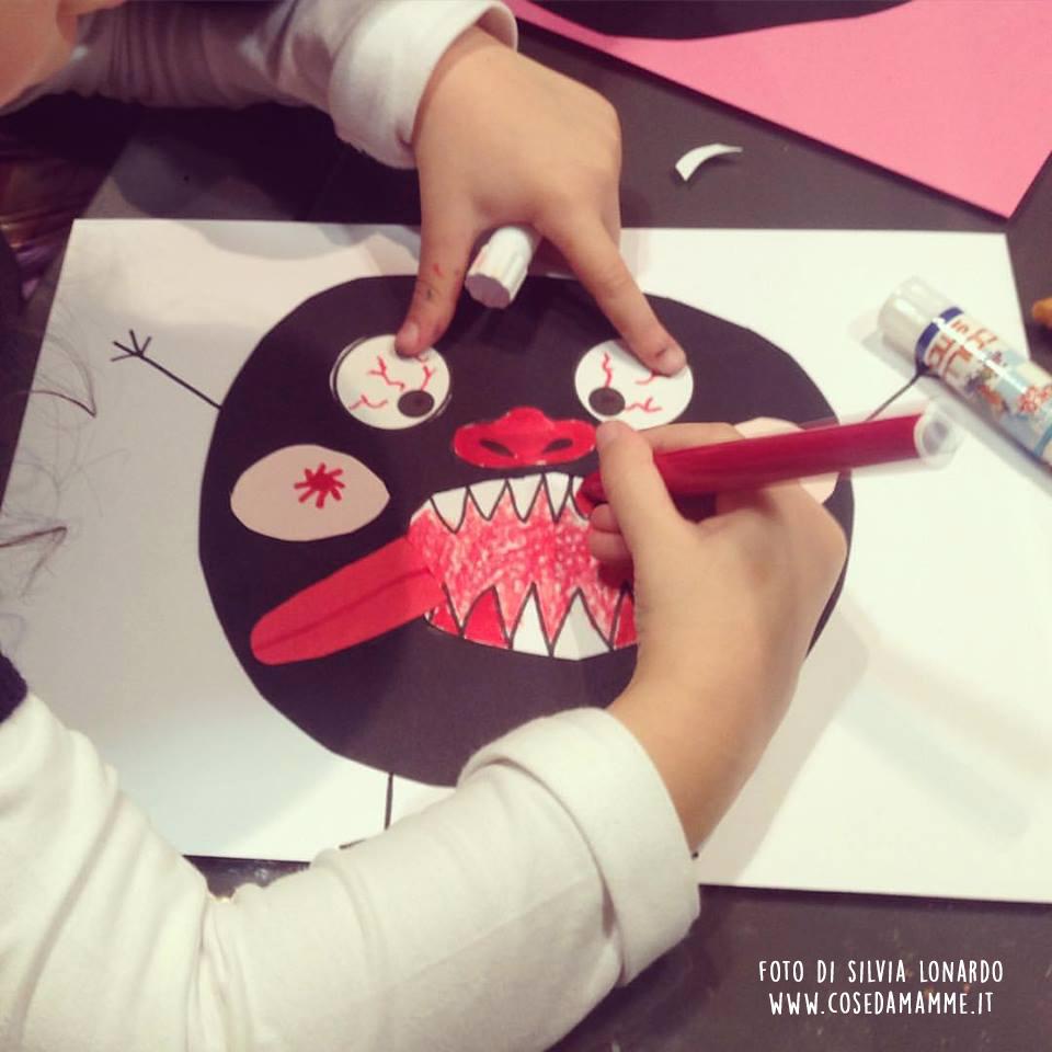 mostro laboratorio halloween attivita bambini