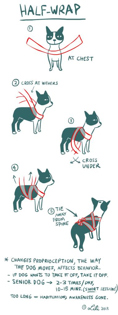 fasciatura calmante per cani halfwrap
