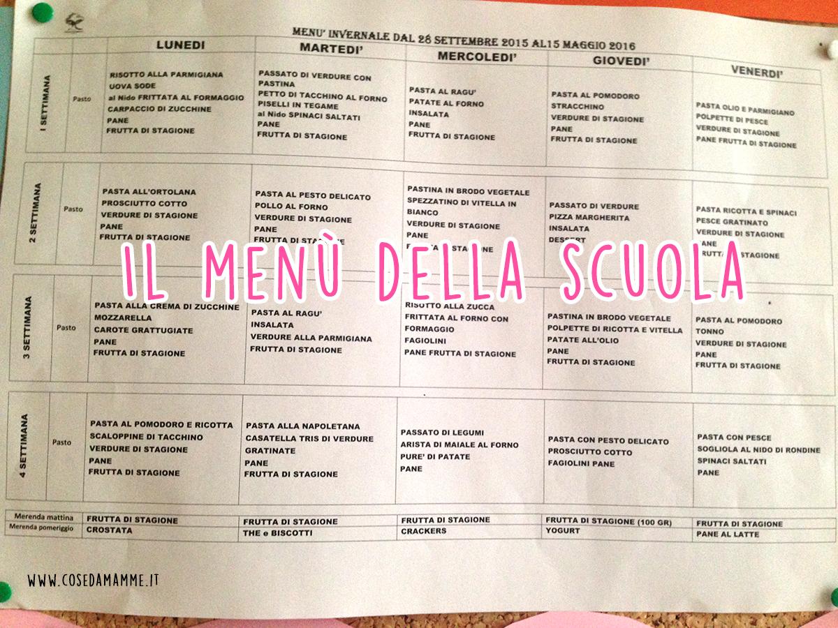 menu della scuola title
