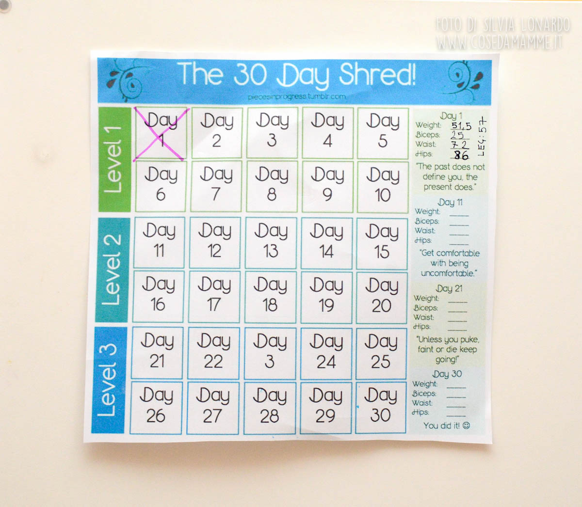 30 giorni esercizi